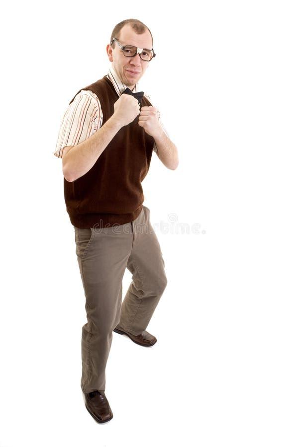 Download Fighting Nerd stock photo. Image of joke, muscle, laugh - 8049990