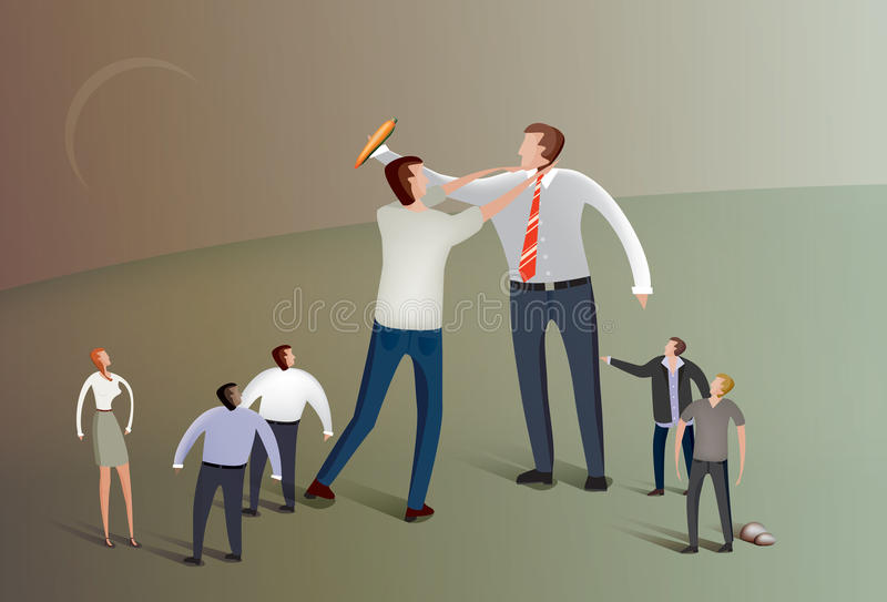 Fighting over a carrot royalty free illustration