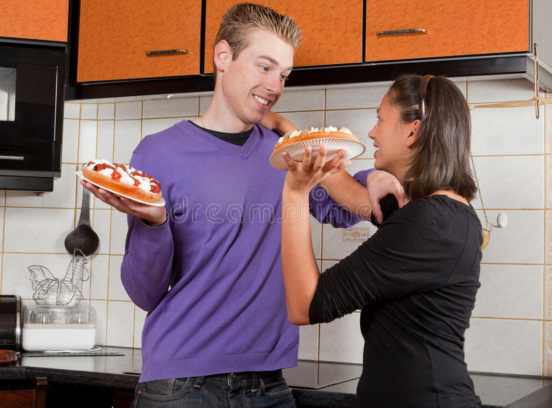 Download Fighting With Pies Royalty Free Stock Image - Image: 23423446