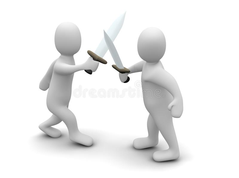 Download Fighting with swords stock illustration. Image of toon - 9576182