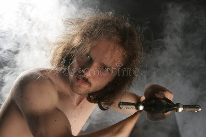 Download Fighting warrior stock image. Image of dramatic, curly - 5307393