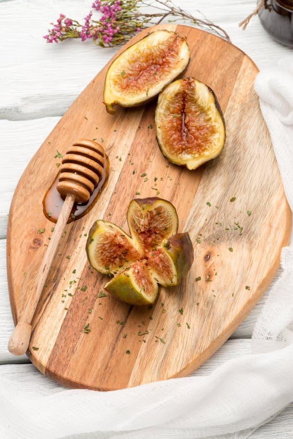 Figi i miód obraz stock