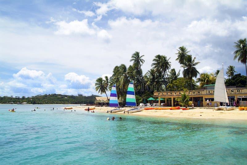Figi, isola di Malolo Lailai fotografia stock libera da diritti