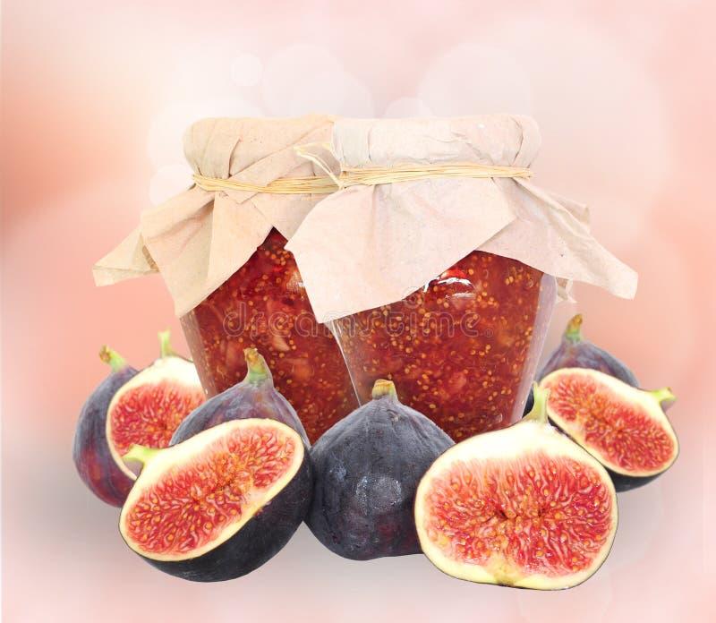 figi owoc dżem obrazy stock