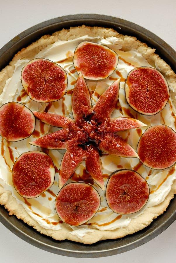 Figi tarta z mascarpone i miodem obraz royalty free