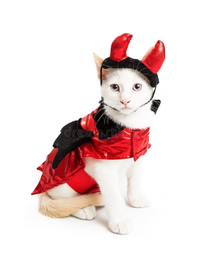 Figlarka Jest ubranym diabła Halloween kostium obrazy royalty free