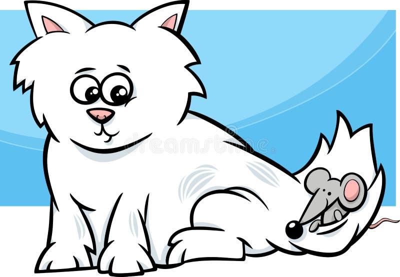 Figlarka z myszy kreskówką ilustracji