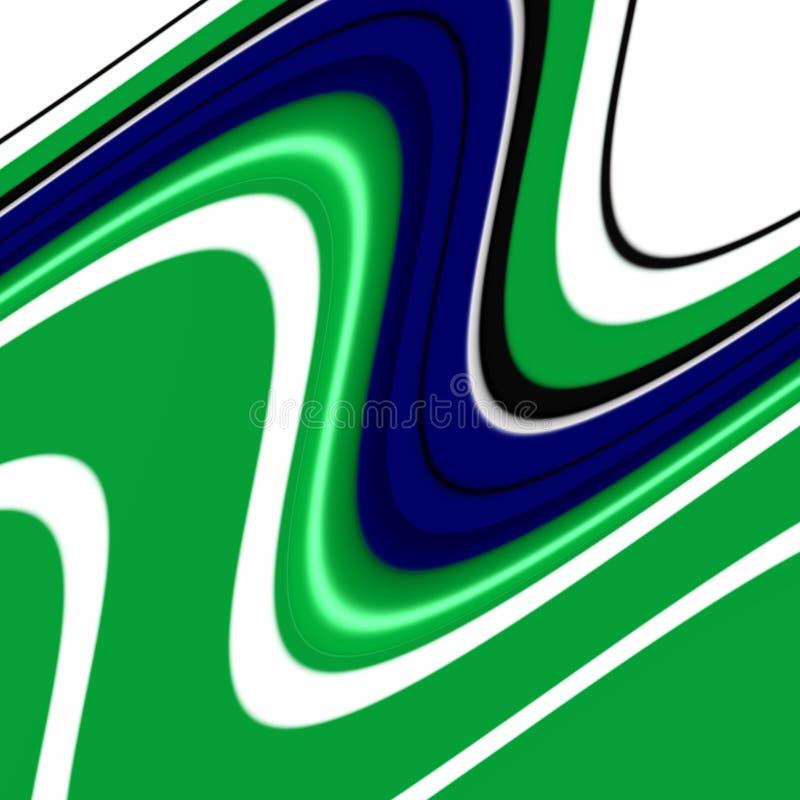 Figlarnie błękitnej zieleni biali kształty, grafika, abstrakcjonistyczny tło ilustracja wektor