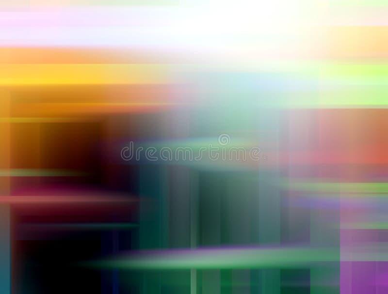 Figlarnie błękitni pomarańczowego koloru żółtego zieleni kolory, geometrie, abstrakcjonistyczny tło, grafika, abstrakcjonistyczny ilustracja wektor