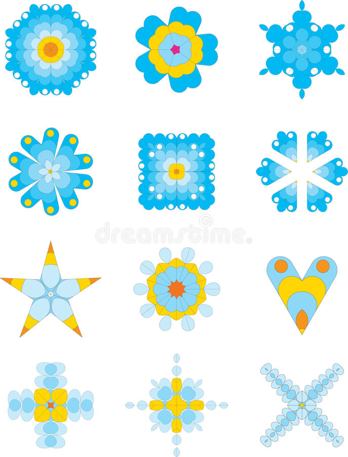 figlarnie błękitny inkasowi ornamenty obraz stock