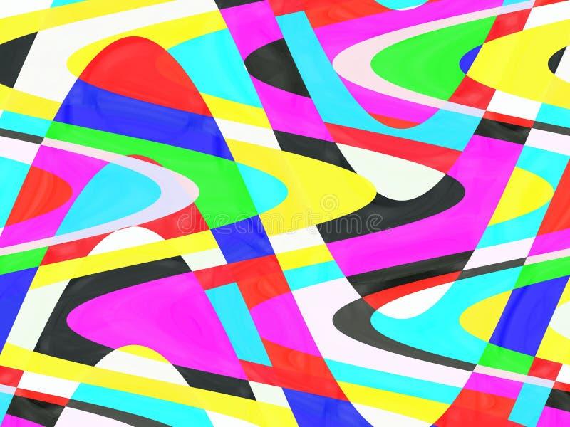 Figlarnie koloru tło, grafika, abstrakcjonistyczny tło i tekstura, ilustracji