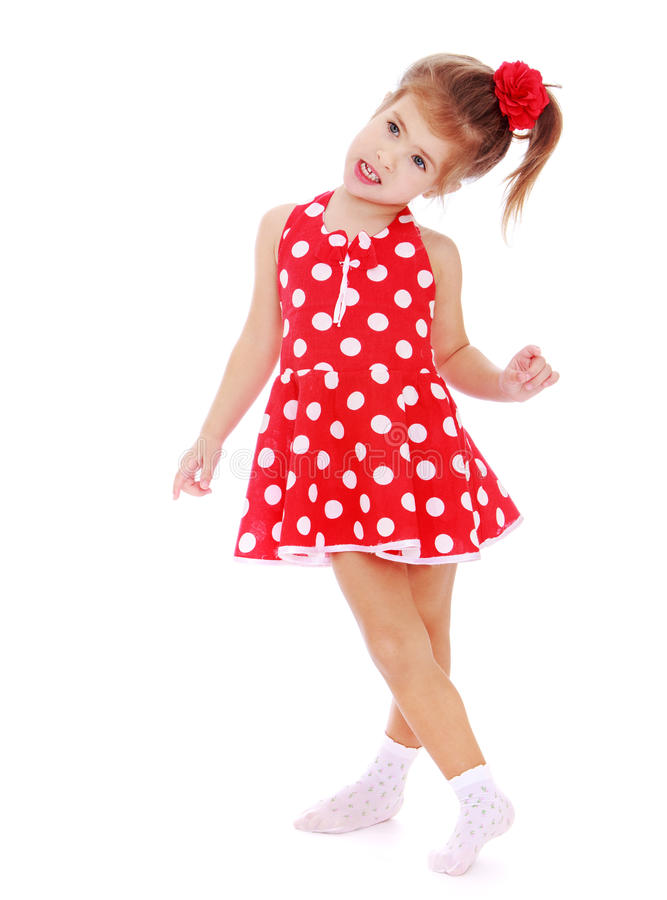 Figlarnie mała dziewczynka Hamming fotografia royalty free