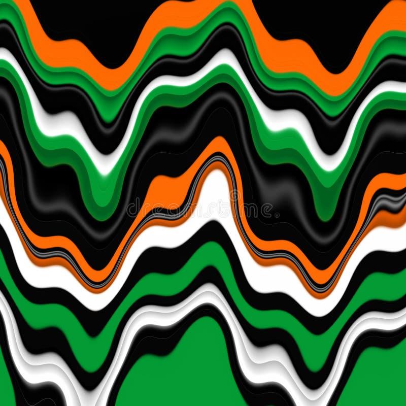 Figlarnie pomarańcze zieleni biali kształty, grafika, abstrakcjonistyczny tło royalty ilustracja