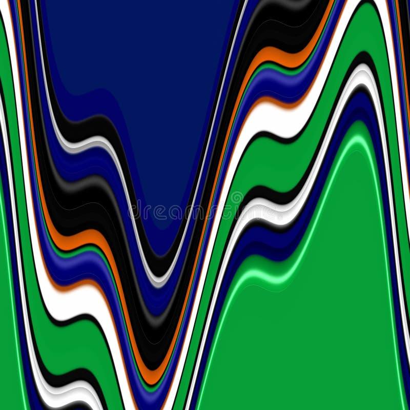 Figlarnie pomarańczowi błękitnej zieleni biali kształty, grafika, abstrakcjonistyczny tło ilustracja wektor