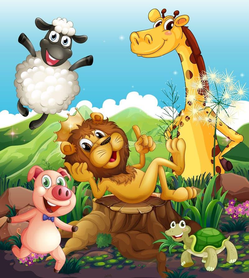 Figlarnie zwierzęta ilustracji