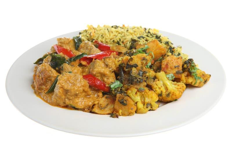 Figli il curry dell'indiano di Korma fotografie stock libere da diritti