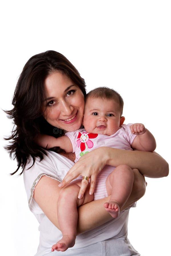 Figlia felice del bambino e della madre immagine stock