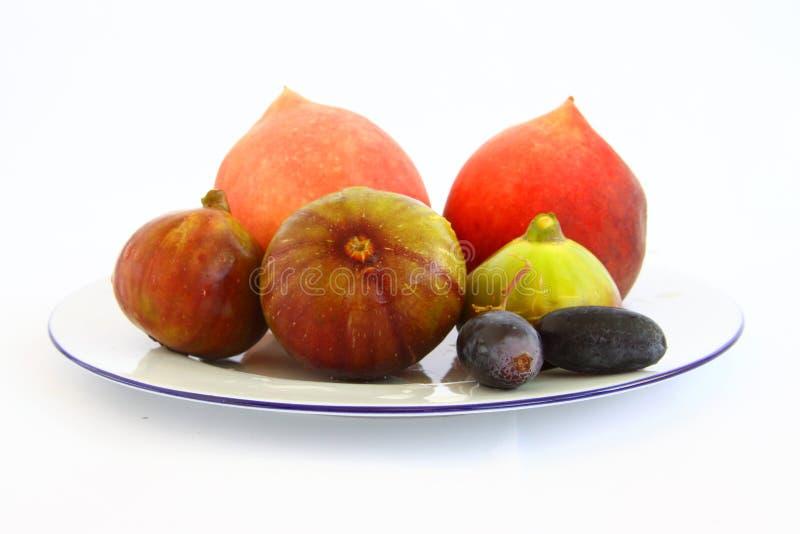 Figos do pêssego das uvas imagem de stock royalty free