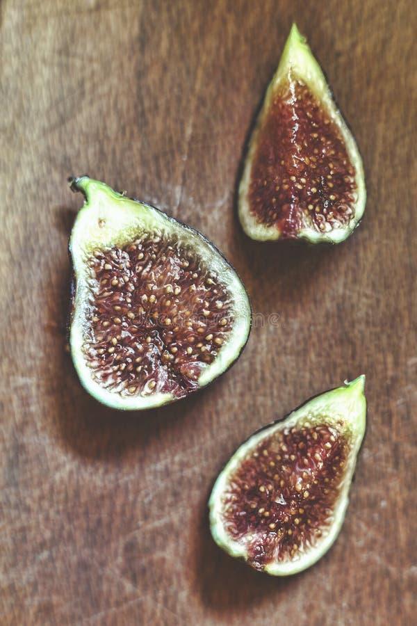 Figos maduros e deliciosos Macro Vista de acima foto de stock royalty free