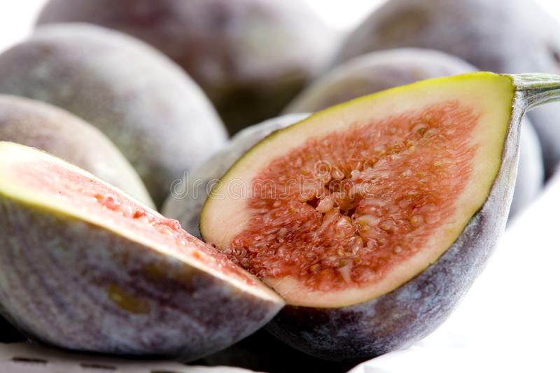 Figs. Inside, indoor, indoors, interior, interiors, ilustration, ilustrations, foodstuff, foodstuffs, nutrition, health, nourishment, nourishments, healthy royalty free stock photography