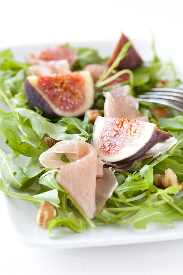 Download Figs with arugula stock photo. Image of plate, ripe, purple - 21447544