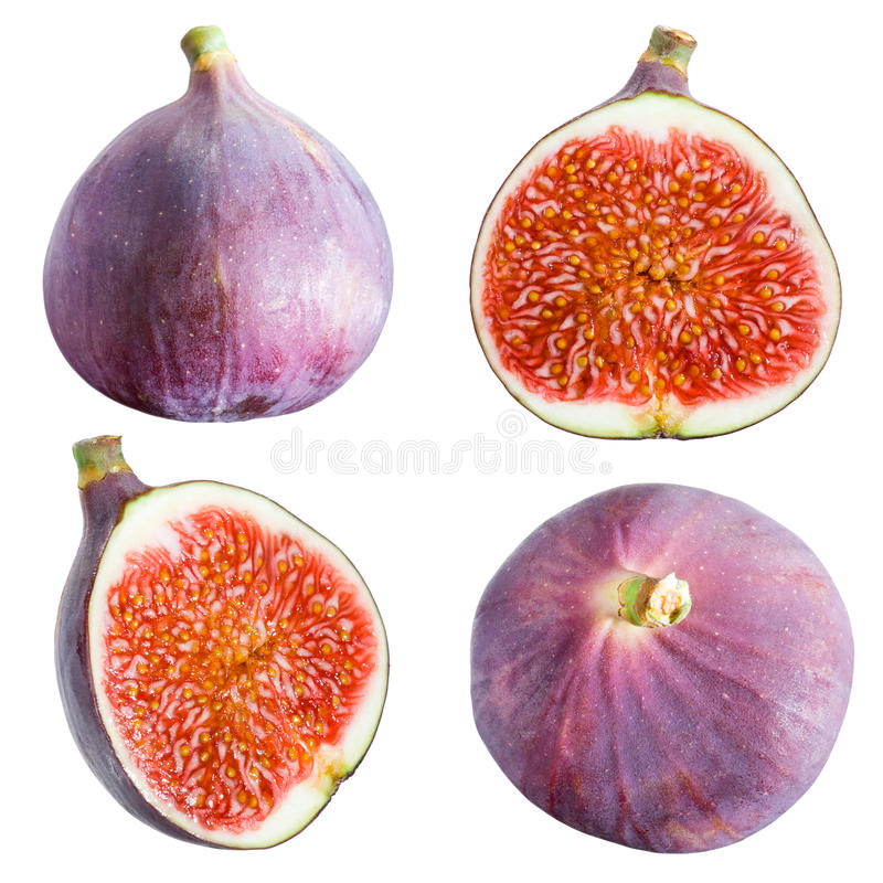 Figs collection. Fruits on white background stock photos