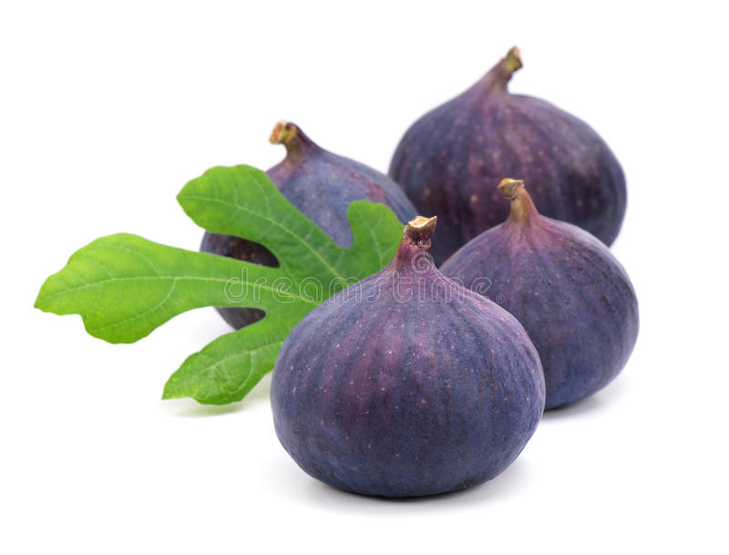 Download Figs with green leaves stock photo. Image of seed, half - 33519654