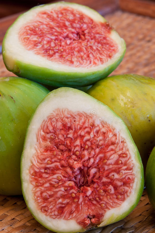 Download Figs, halved fig stock image. Image of delicious, green - 39506141
