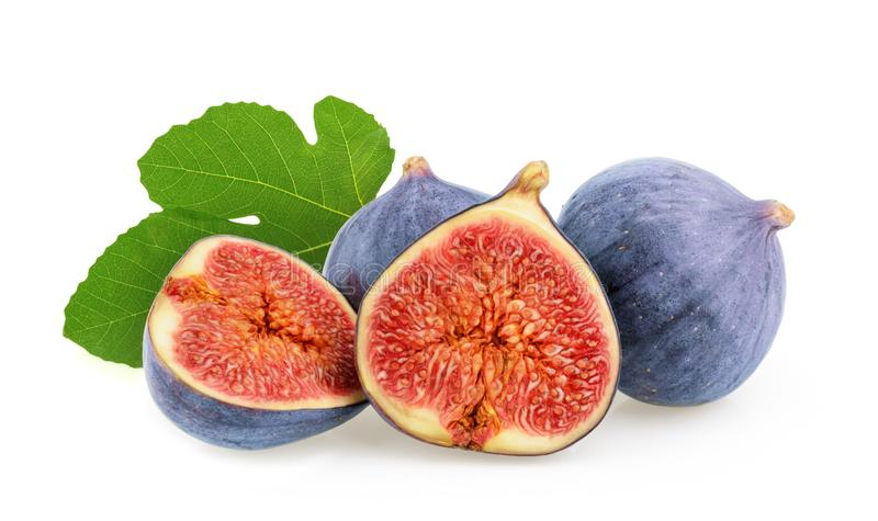 Figs isolated on white background royalty free stock photography