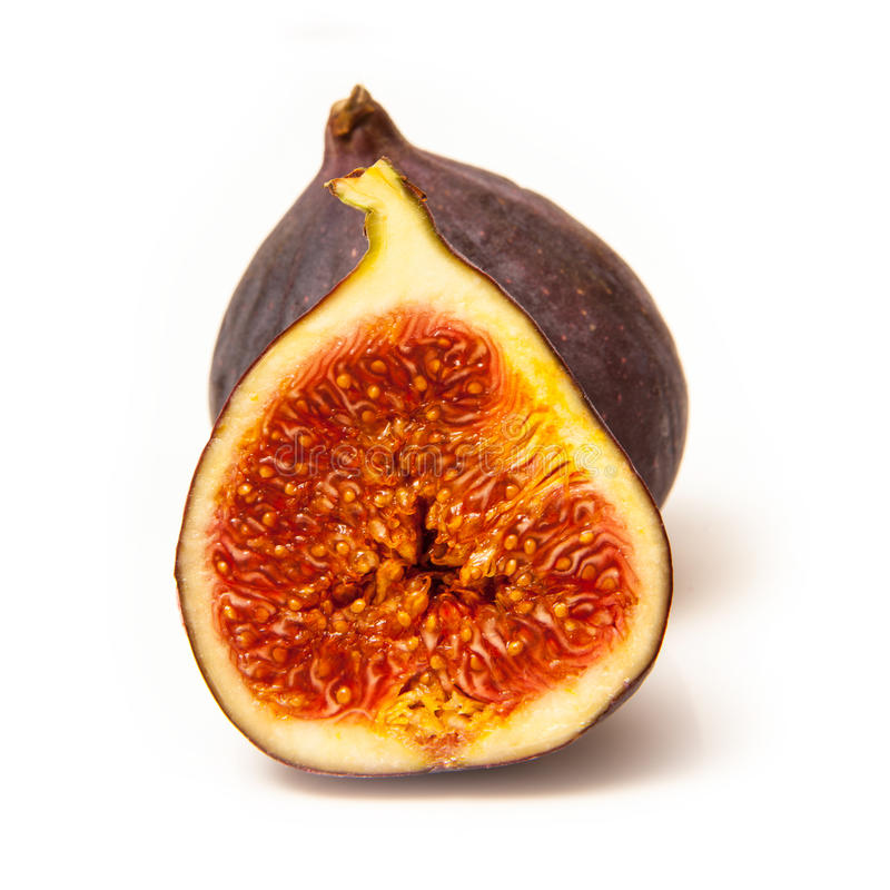 figs isolated on a white studio background. royalty free stock image