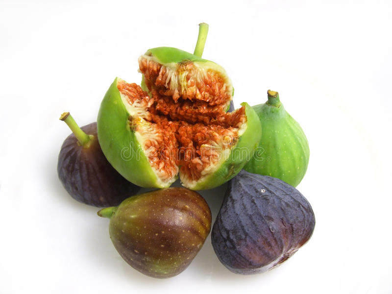 Figs on white stock photos