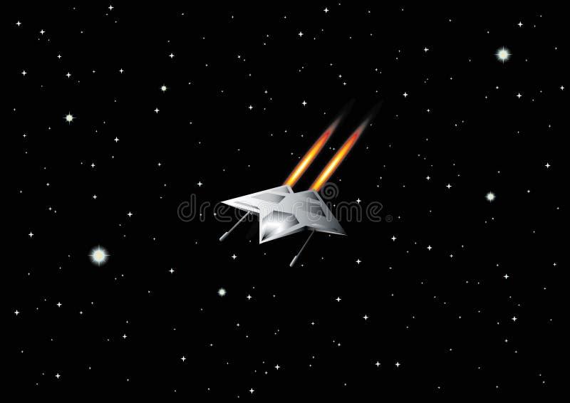 Figter dans l'espace extra-atmosphérique illustration stock