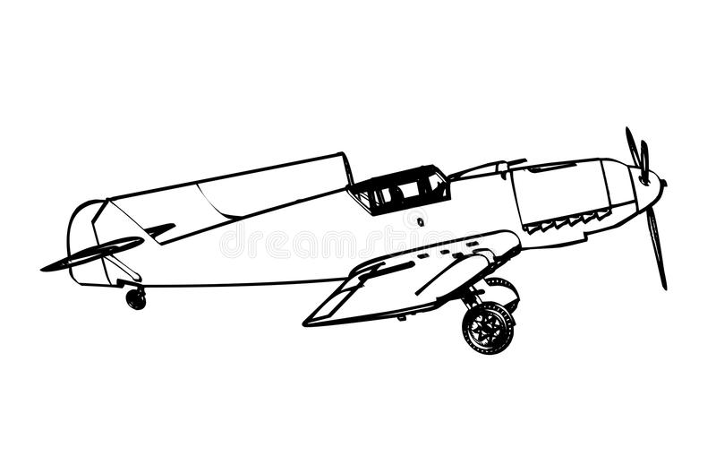 Figter de trop de Messerschmitt BF109 illustration de vecteur