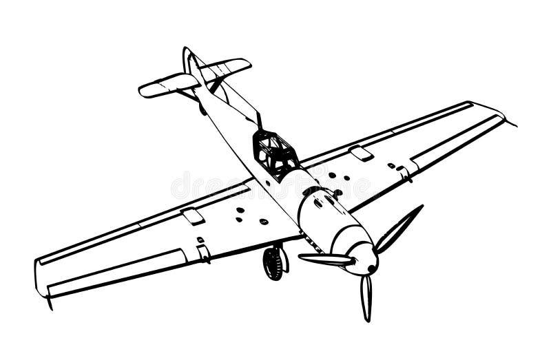 Figter de trop de Messerschmitt BF109 illustration libre de droits