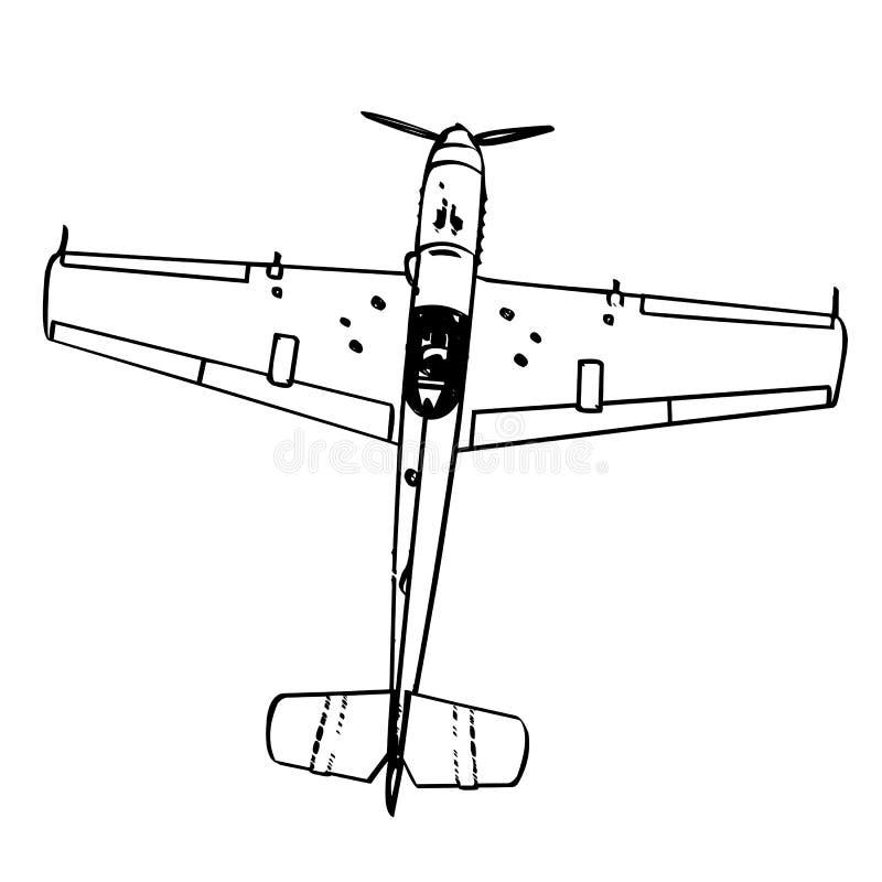 Figter de trop de Messerschmitt BF109 illustration stock