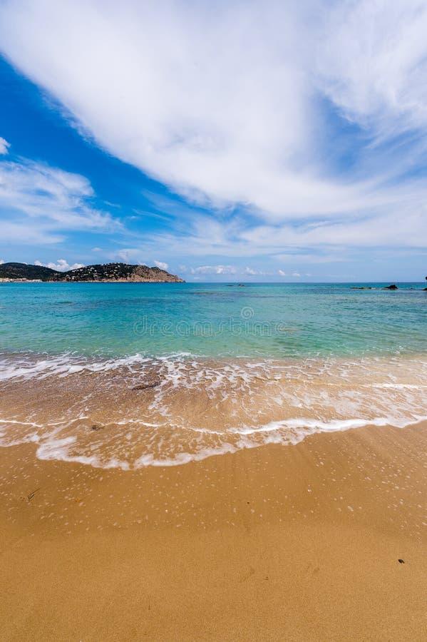 Figueral海滩在Ibiza 库存照片