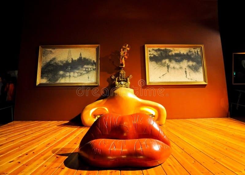 FIGUERES, ESPAGNE 6 AOÛT : La salle de Mae West en Dali Theatre en août 6,2009 à Figueres. image stock