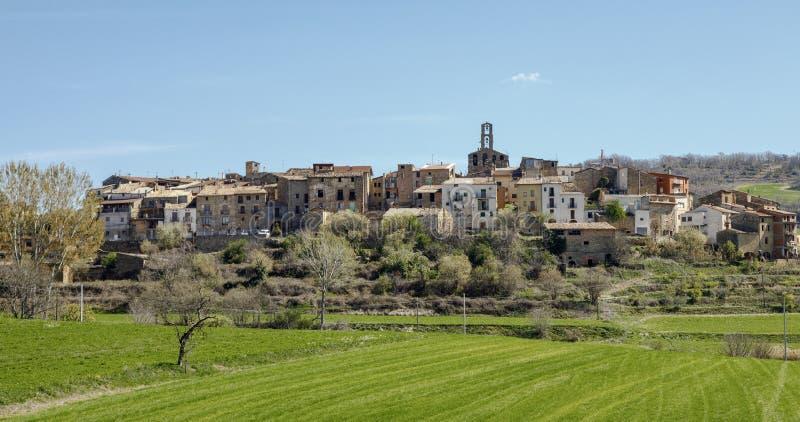 Figuerola D ` Orcau is een Catalaans dorp in Spanje, stock foto
