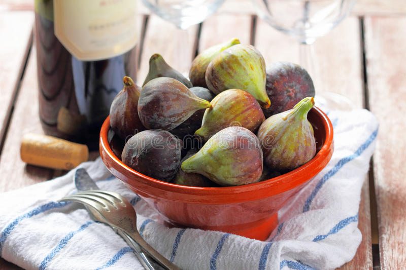 Figues fraîches images stock