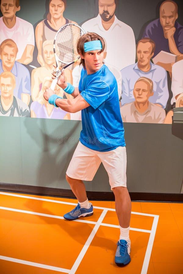 Figur de cire de Rafael Nadal images libres de droits