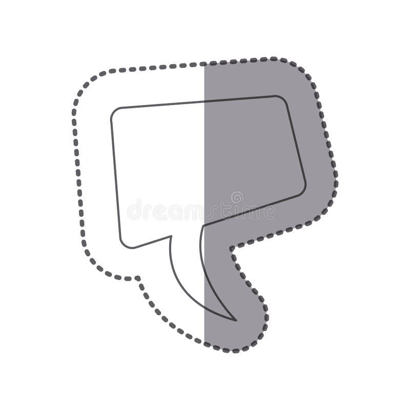 figura ícone da bolha do bate-papo do squere ilustração do vetor