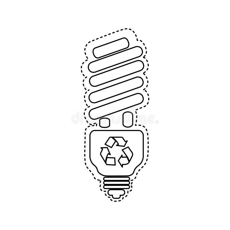 figura ícone da poupança de energia do bulbo ilustração royalty free