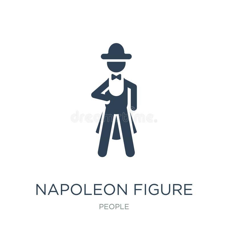 figura ícone de napoleon no estilo na moda do projeto figura ícone de napoleon isolado no fundo branco figura ícone de napoleon d ilustração stock