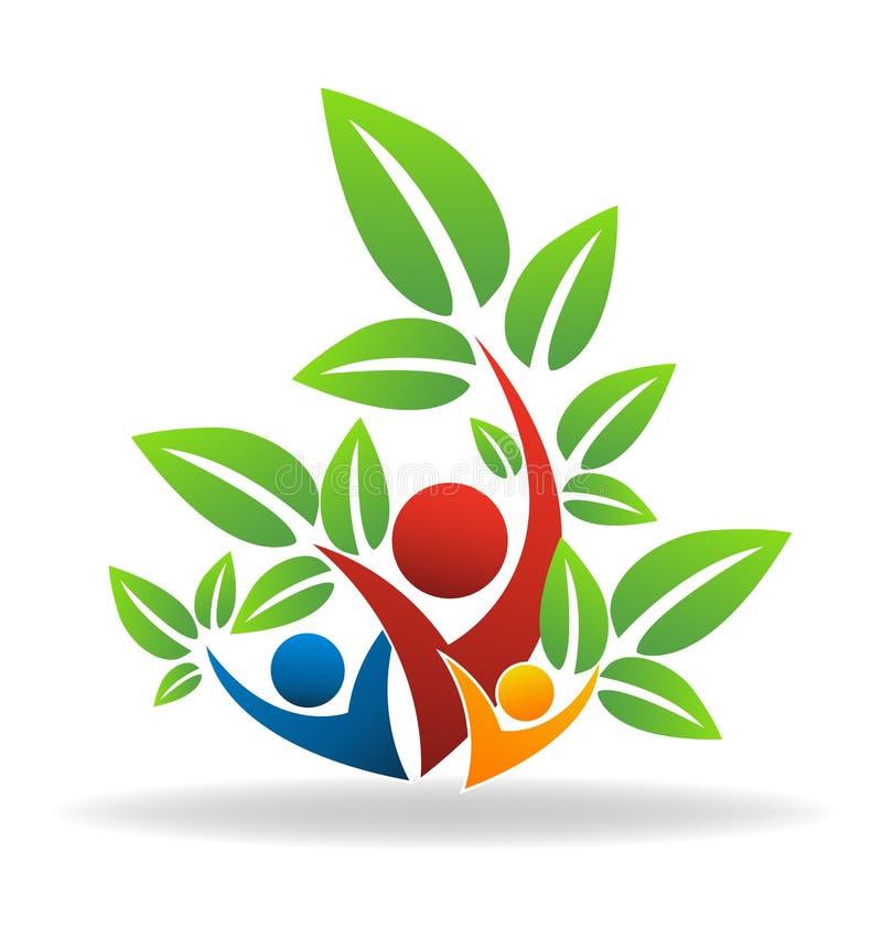 Figura ícone do bem-estar da árvore genealógica ilustração stock