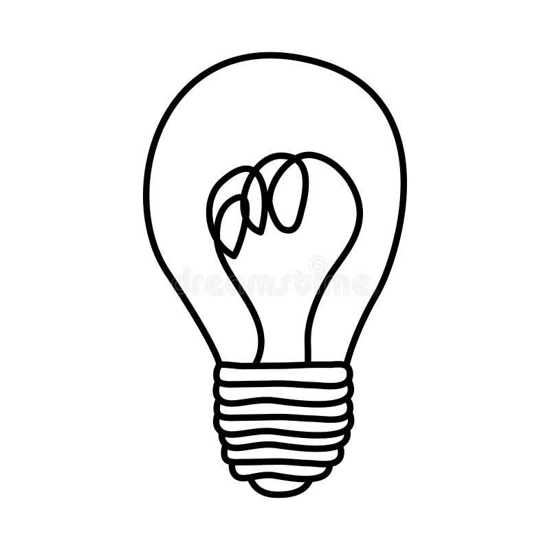 figura ícone do bulbo da pintura da etiqueta ilustração do vetor