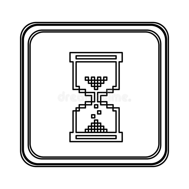 figura ícone do cursor da ampulheta do rato do emblema ilustração do vetor