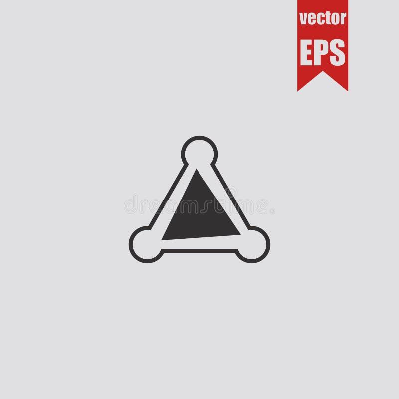 Figura ícone do triângulo isolado no fundo cinzento Ilustração do vetor ilustração do vetor