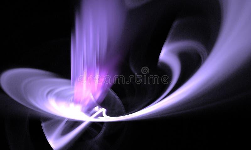 Figura abstracta composición de las líneas de intersección del color en un fondo negro, fractal, para las cubiertas, discos, pági fotografía de archivo libre de regalías
