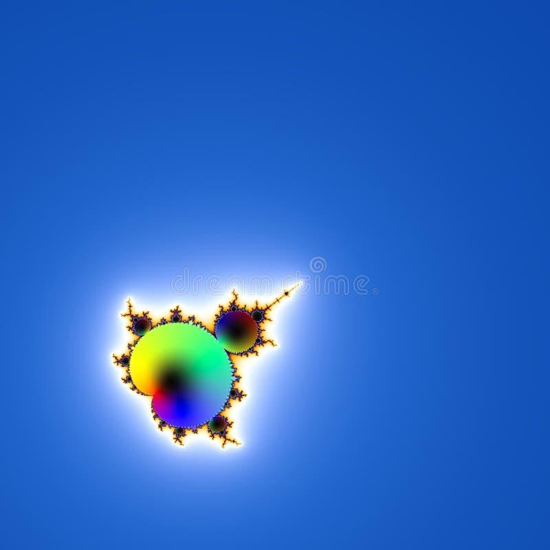 Figura abstracta del fractal en fondo azul stock de ilustración