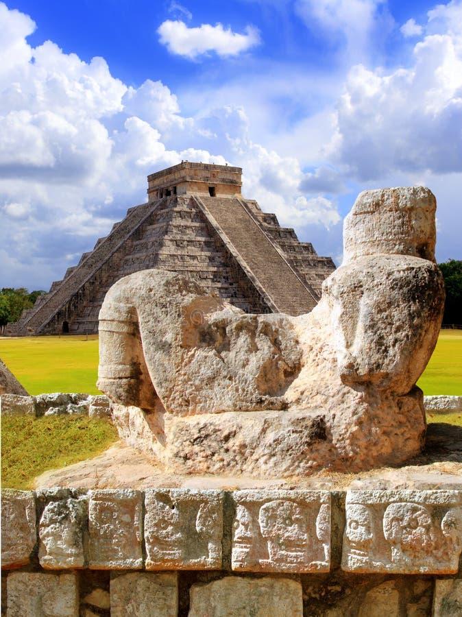 Figura antiga México de Chac Mool Chichen Itza fotos de stock royalty free